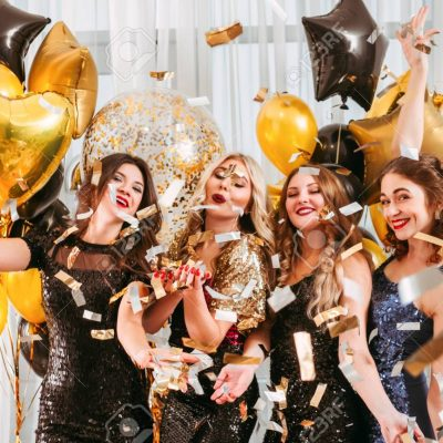 girls party festive event balloons confetti